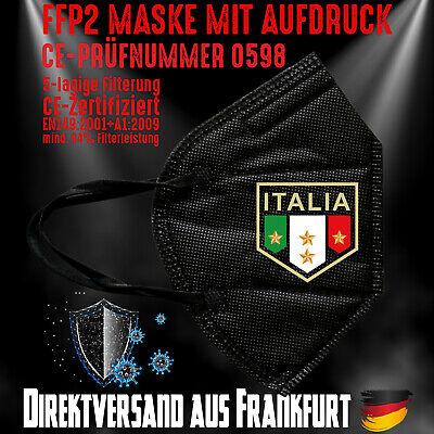 FFP2 Maske Atemschutzmaske Mundmaske Italien Italy EM Fußball Forza Italia