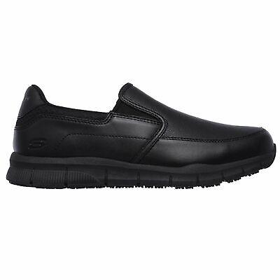 Skechers Men's 77157 Nampa Groton Memory Foam Slip Resistant Black Work Shoes