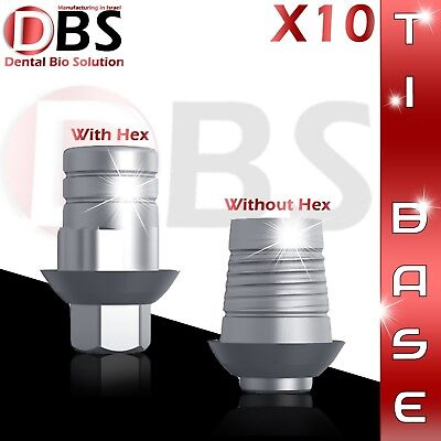 10x Cadcam Ti-base For Dental Implant With Without Hex Zirkonzahn Compatible