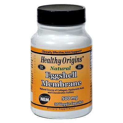 Natural Eggshell Membrane (Healthy Origins Natural Eggshell Membrane - 500 mg - 30 Vegetarian Capsules )