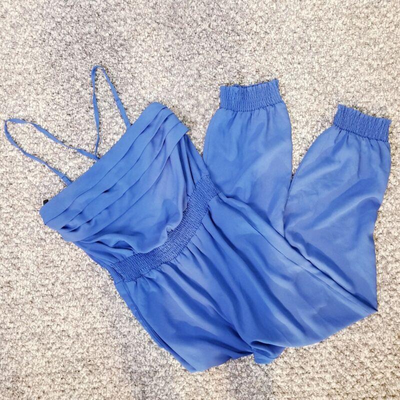 Bebe Royal Blue Jumpsuit Size Medium