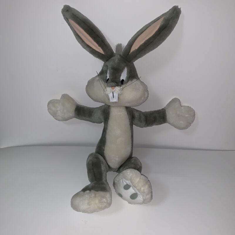 Applause Looney Tunes Bugs Bunny Gray White Plush Stuffed Animal