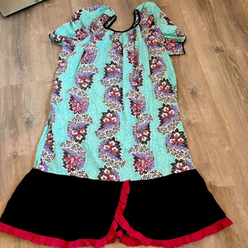 Vintage Lolenani Hawaiian Mumu Dress Womens Size XXL