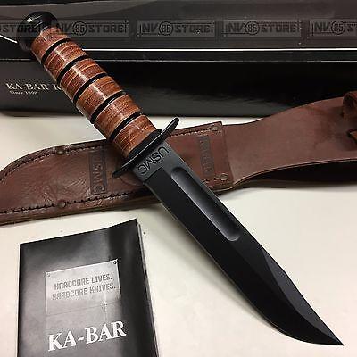 KNIFE COLTELLO KA-BAR USMC **ORIGINALE 100% MADE IN USA** SURVIVOR CACCIA (1217)