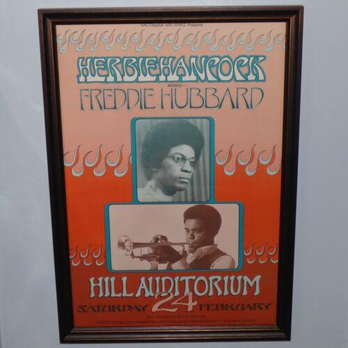 HERBIE HANCOCK FREDDIE HUBBARD HILL AUDITORIUM ANN ARBOR 1973 ORG CONCERT POSTER