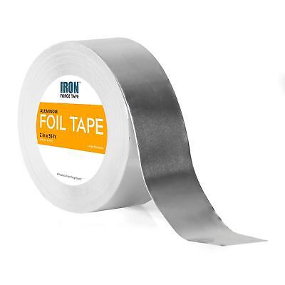 Aluminum Foil Tape Roll - 2 Inch X 55 Feet Heavy Duty Tin Foil Duct Tape For
