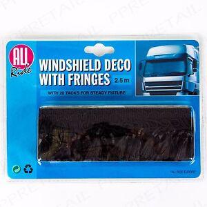 TRUCK HGV LONG 2.5m WINDSCREEN WINDOW DECORATION Sun Shield Pelmet Black Lorry