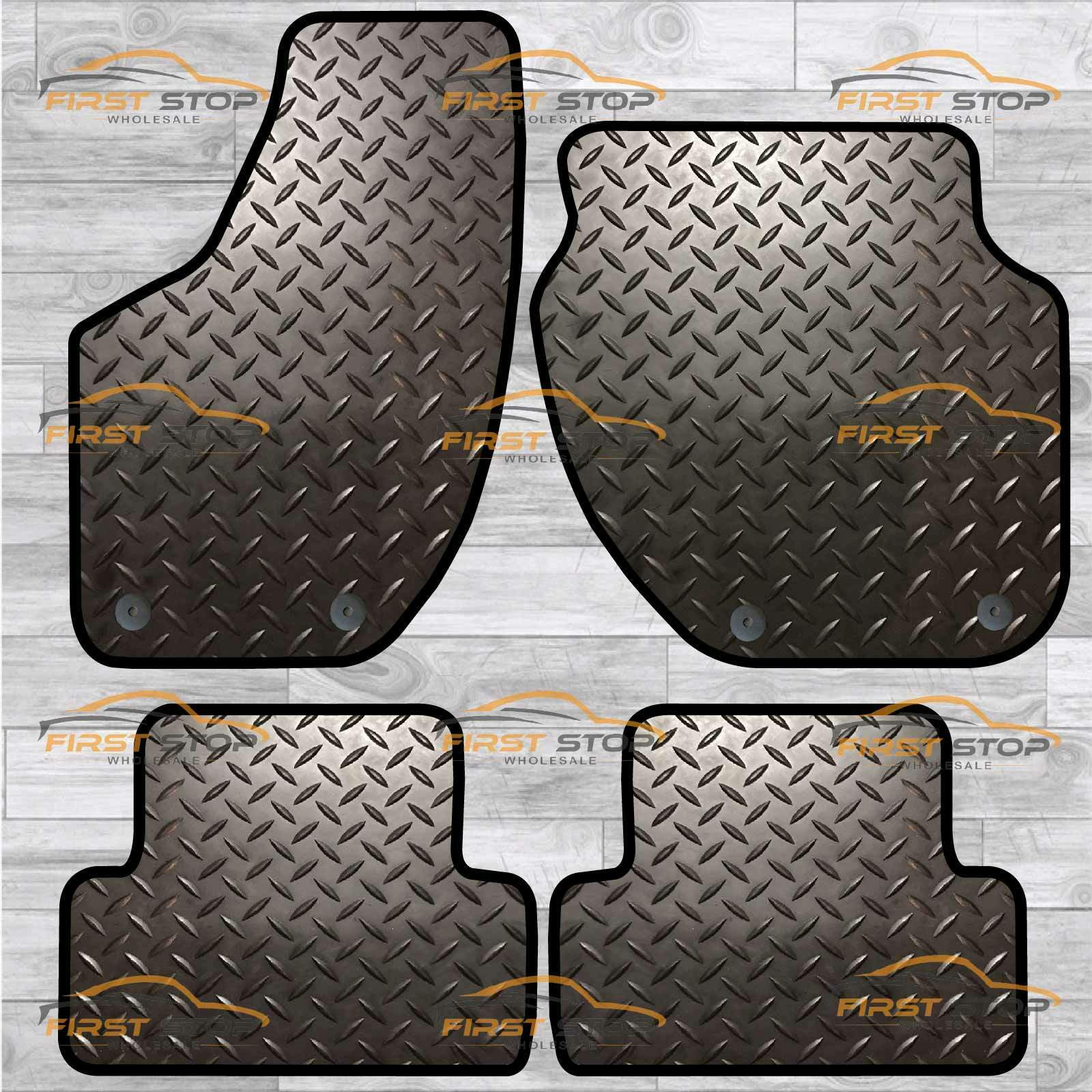 VOLVO S80 06 8 CLIPS FITTED CUSTOM TAILORED RUBBER Car Floor Mats HEAVY DUTY