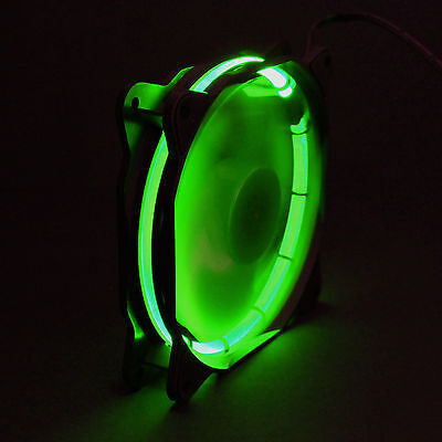 Led Case Fan (Sphere 120mm LED Ring Gehäuse Lüfter - 1200 rpm - Modding Case Fan - Grün, Green)