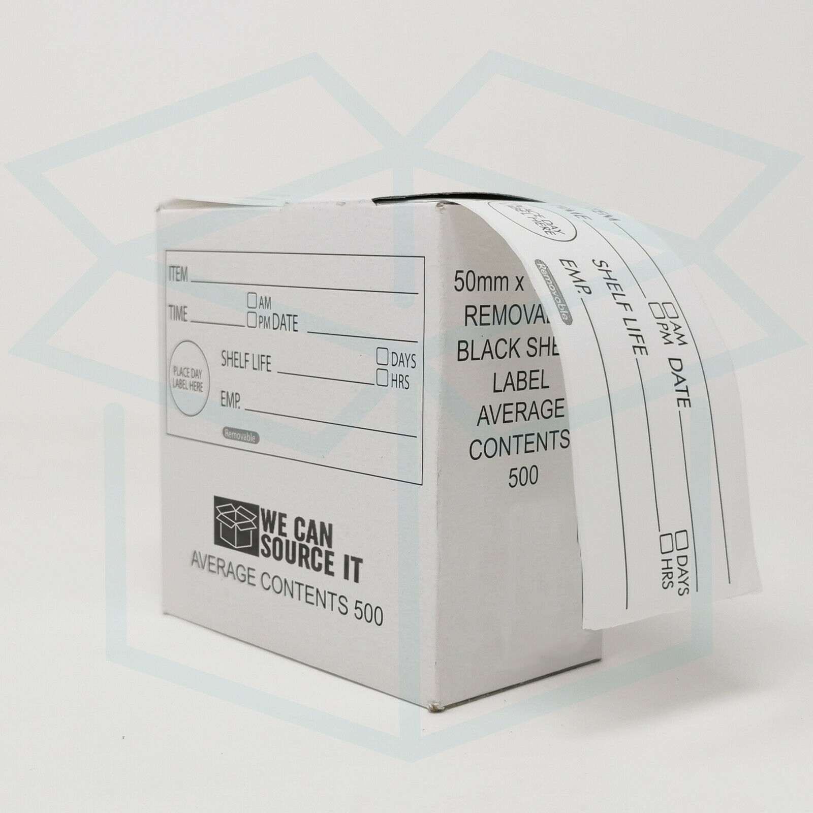 """DayMark Day of the Week 1/"""" Permanent Labels Monday-Sunday Dispenser Box Includ"""