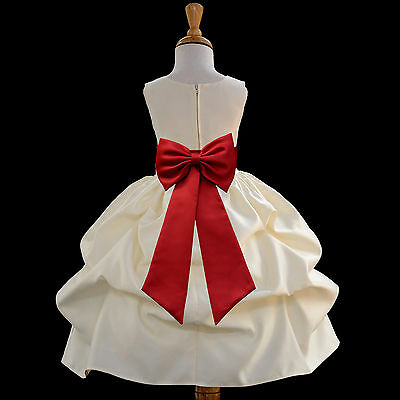FLOWER GIRL DRESS PICK-UP WEDDING BRIDESMAID COMMUNION EASTER ~FREE SHIPPING - Communion Dresses Usa