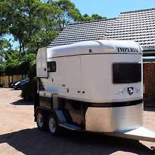 2 HORSE ANGLE FLOAT, ELECTRIC BRAKES, FULLY LINED, IMPERIAL BRAND Vineyard Hawkesbury Area Preview