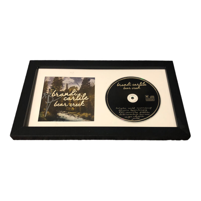 BRANDI CARLILE SIGNED AUTOGRAPH BEAR CREEK FRAMED & MATTED CD DISPLAY RARE