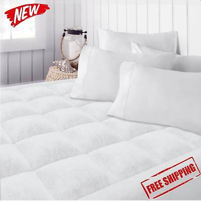 Quilted Mattress Covers - Top Mattress Queen Size Topper Cover Pad Quilted Pillow Bed Plush Hypoallergenic