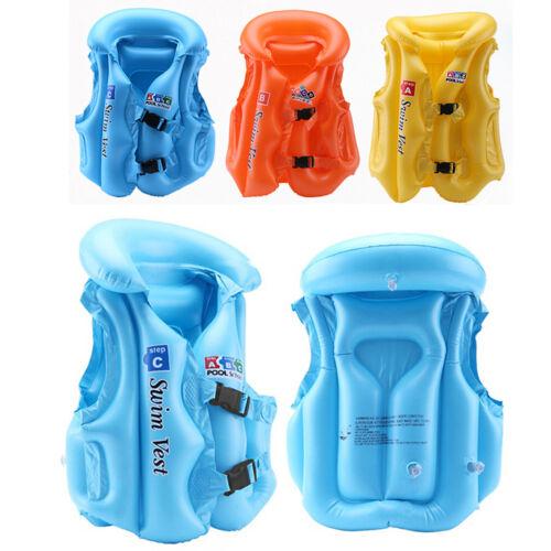 Kinder Schwimmweste Schwimmhilfe Schwimmende Aufblasbar PVC Kunststoff Auftrieb