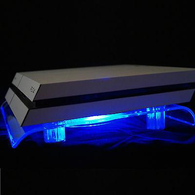 USB Design Kühler Lüfter blau LED 18cm Ständer PS4 Playstation 4 Zubehör Slim