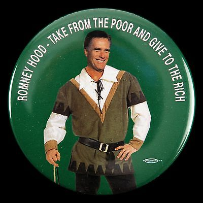 2012 Mitt Romney Hood Take From The Poor & Give To The Rich 3