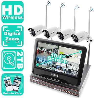 Crystal Vision All In One Hd 4Ch Wireless System W  10 1  Built In Screen Camera