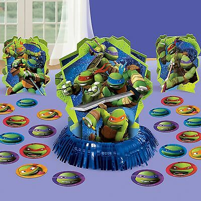 Teenage Mutant Ninja Turtles Birthday Party Centerpiece confetti Table Decor Kit - Ninja Turtles Party Decorations
