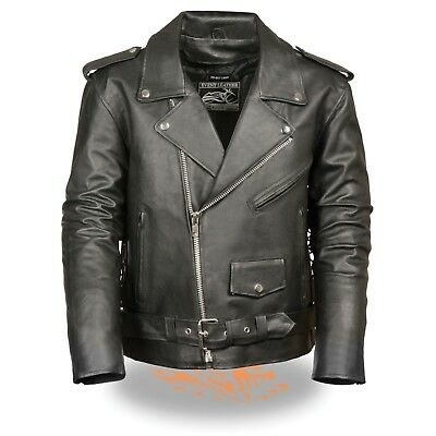 Classic Side Lace Motorcycle Jacket - Event Leather Men's Classic Side Lace Police Style Motorcycle Jacket  **EL5411**