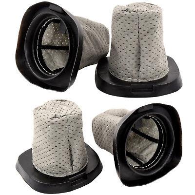 4-Pack HQRP Dust Cup Filter for Dirt Devil Versa Power Serie