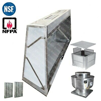 16 Ft Low Profile Restaurant Commercial Makeup Air Hood Captiveaire System