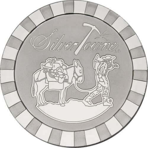 SilverTowne Stackables Trademark Prospector 5oz .999 Silver Medallion