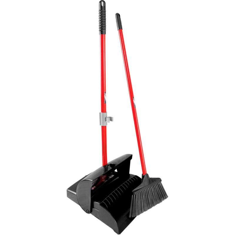 Libman Lobby Dust Pan & Broom Set- 2-Pack Case 10inWx38inL Btoom 12inW Dust Pan