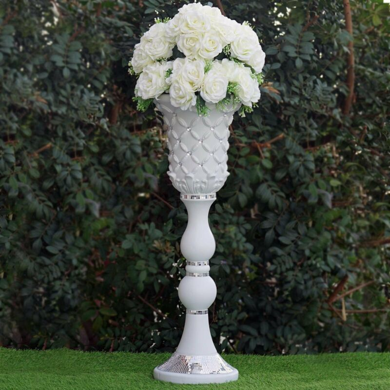 "4 pcs WHITE 31"" tall Decorative Wedding Party Vases Centerpieces Decorations"
