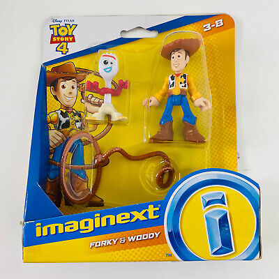 TOY STORY 4 IMAGINEXT Woody & Forky Action Figures FISHER PRICE NEW BX7