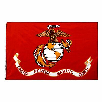 USMC UNITED STATE MARINE CORPS FLAG 3 X 5 SEMPER FI FIDELIS WITH BRASS GROMMETS Décor