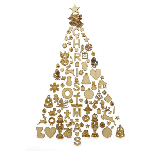 Christmas+Tree+Wall+Display+Decoration+Laser+Cut+from+3mm+MDF+Self+Assembly+Set
