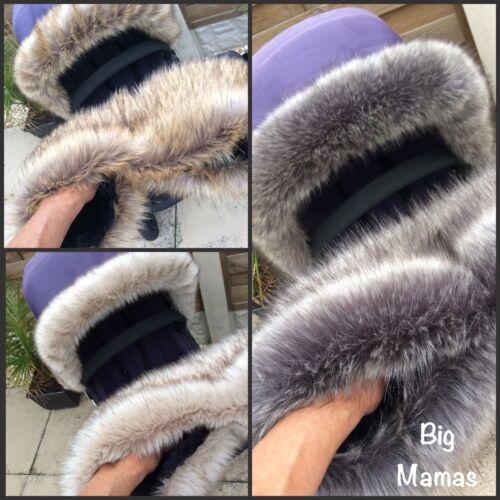 Luxury Faux Fur -Pram Handmuff- Padded & Fleece Lined -Pram Mitts- Parent Gloves
