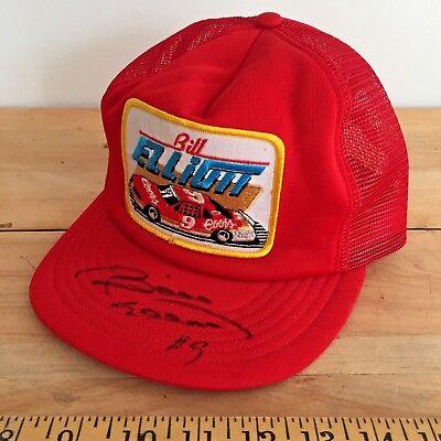 ec9f9cb4c Signed Bill Elliott Vintage Nascar Trucker Hat -