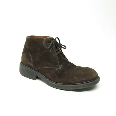 J Crew Brown Suede Leather Italy Lace Up Desert Chukka Ankle Boots Mens 7 H