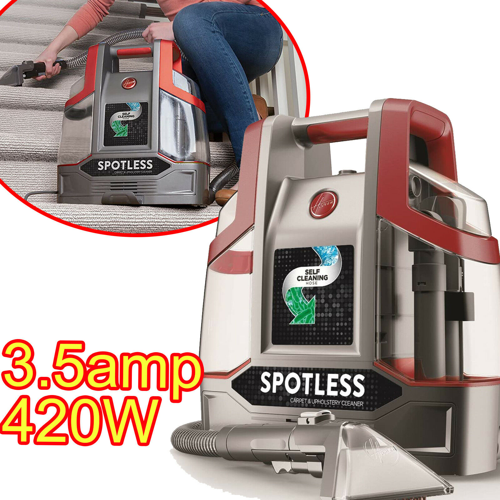 Auto Upholstery Spot Cleaner Car Carpet Machine Interior Vac
