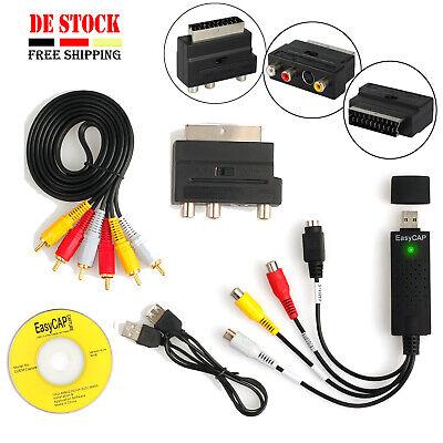 Video-capture - (Easycap USB 2.0 Digital Audio Video Capture Grabber VHS-DVD TV  Konverter Karte)