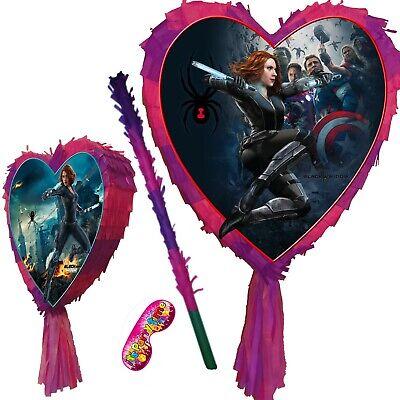 Heart Pinata Smash Party birthday Natasha Black spider super widow hero avengers](Avengers Pinata)