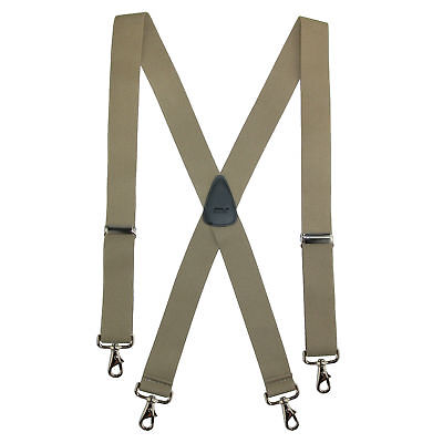 New CTM Men's Elastic Solid Color X-Back Suspender with Swiv