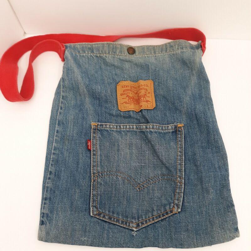 Levi Strauss & Co VTG Denim Tote Bag 501 now! Designs San Francisco Red Strap