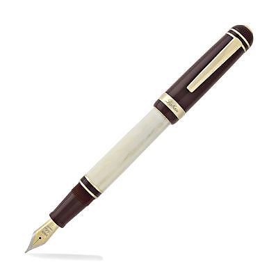 Laban 325 - Fountain Pen - Burgundy Cap with Ivory Barrel - Fine Point for sale  Matawan