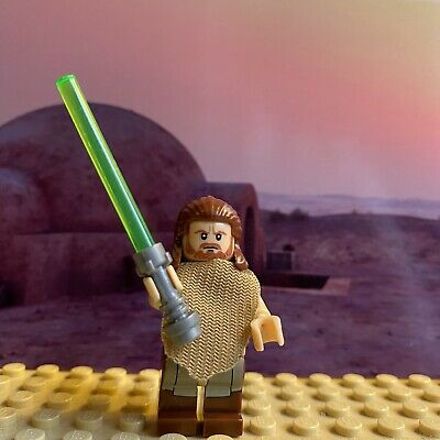 Star Wars Qui-Gon Jinn Poncho Compatible Custom Lego Mini Figure Jedi SW0651