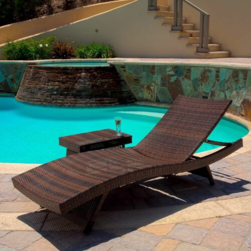 Lakeport Outdoor Wicker Lounge and Table Home & Garden