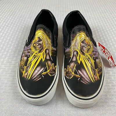 NEW w/Box Iron Maiden Killers 2007 Vans Slip On Shoes Mens Size 10.5 Womens 12