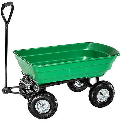 Chariot de jardin remorque à main transporteur inclinable charrette  basculante