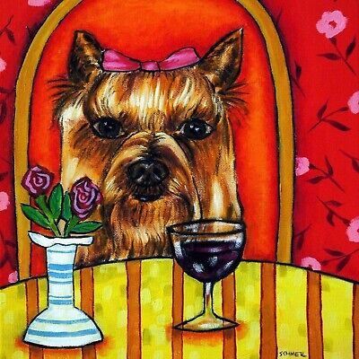 Yorkshire Terrier Dog Picture (yorkshire terrier wine picture animal dog art)