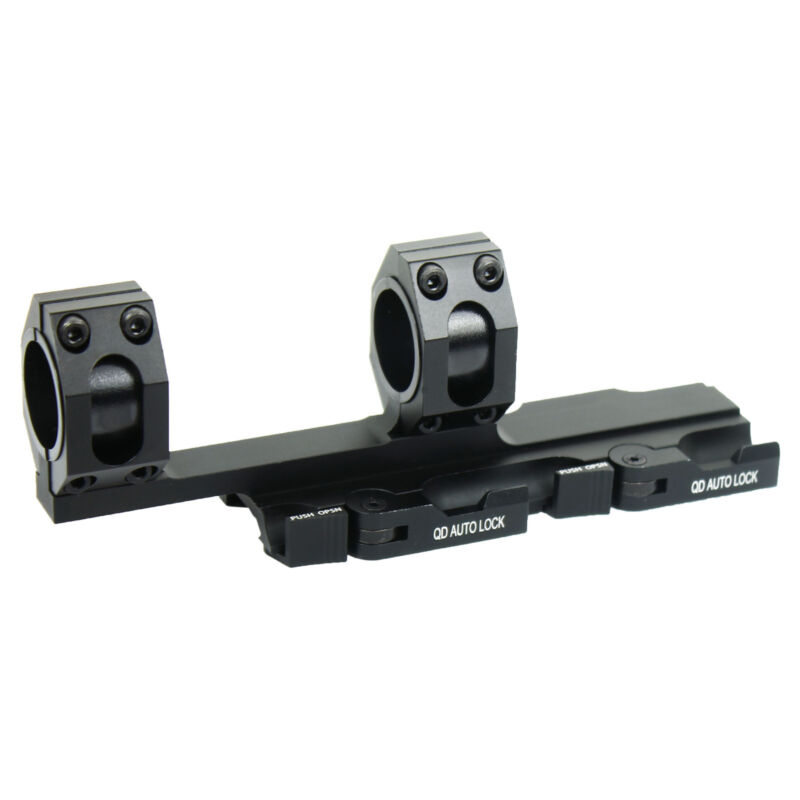 """Quick Release 1""""/30mm Ring Scope Mount&inserts Auto Lock 20mm Rail for Hunt"""