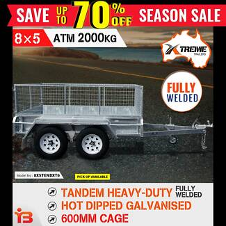 8×5 Tandem Heavy Duty Welded Galvanised Box Trailer 600mm Cage Fairfield Fairfield Area Preview