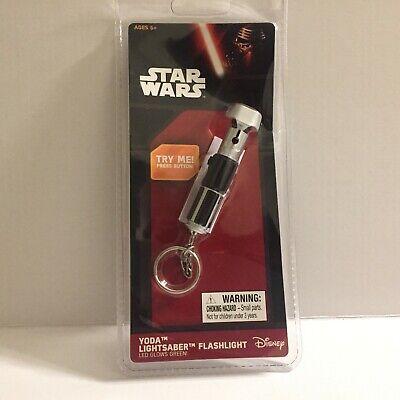 NEW Star Wars Yoda Lightsaber LED Flashlight Key Ring
