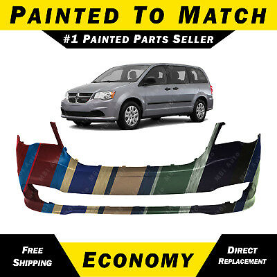 - NEW Painted To Match -- Front Bumper Cover for 2011-2018 Dodge Grand Caravan Van